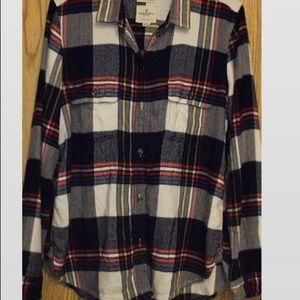 Warm button up flannel
